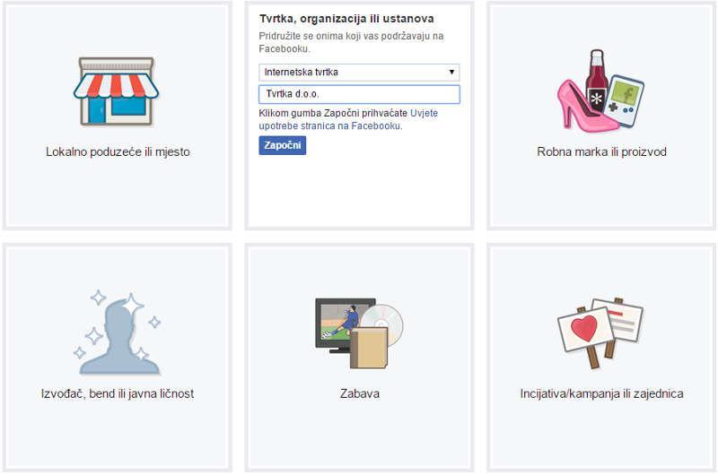 Otvaranje Facebook stranice