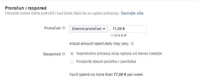 Odabir budžeta za oglašavanje na Facebooku